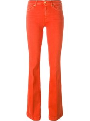 7 For All Mankind Flared Jeans Yellow And Orange