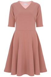 Havren Esme Fit And Flare Dress Pink