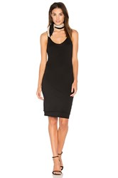 Stateside Layered Jersey Tank Dress Black