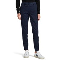 Mason Camouflage Cotton Straight Trousers Navy