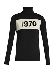 Bella Freud Roll Neck 1970 Wool Sweater Black