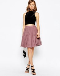 Asos Tulle Mini Prom Skirt With Multi Layers Dusty Pink