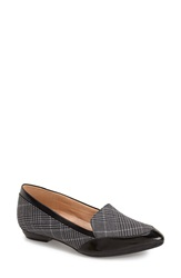 Naturalizer 'Peace' Loafer Women Grey Plaid Black Fabric