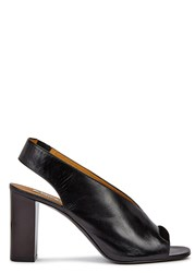 Acne Studios Abbie Black Leather Slingback Sandals