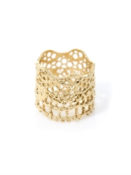 Aurelie Bidermann Gold Plated Vintage Lace Ring