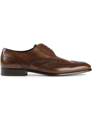 Giorgio Armani Lace Up Brogues Brown