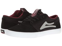 Lakai Griffin Little Kid Big Kid Black White Red Suede Men's Skate Shoes