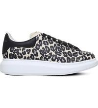 Alexander Mcqueen Wedge Leather Leopard Print Trainers Mult Other
