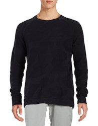 Wesc Textured Pullover Sweater Blue