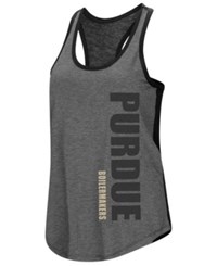 Colosseum Purdue Boilermakers Share It Racerback Tank Heather Charcoal Black