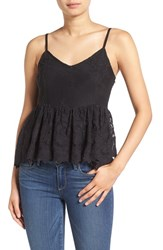 Ella Moss Women's 'Olivier' Embroidered Lace Peplum Camisole
