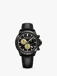 Raymond Weil 8570 Bkc Mars1 'S Tango 300 Marshall Amplification Limited Edition Chronograph Leather Strap Watch Black