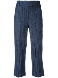 Dondup Cropped Pants Blue