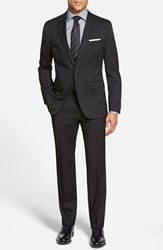 Men's Big And Tall Boss 'Johnstons Lennon' Trim Fit Wool Suit Black