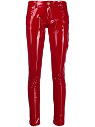 Frankie Morello Glossy Effect Skinny Trousers 60