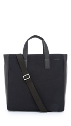 Jack Spade Kahn Wool And Leather Tote Navy