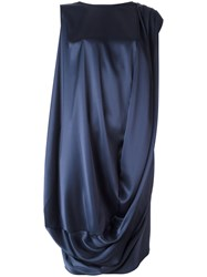 Gianluca Capannolo Draped Dress Blue