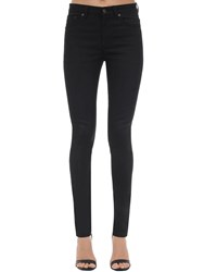 Saint Laurent Skinny Cotton Denim Jeans Used Black
