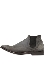 Alberto Fasciani Washed Leather Ankle Boots Grey