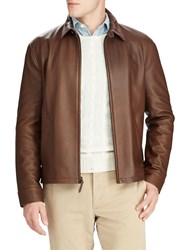Ralph Lauren Polo Maxwell Leather Jacket Bison Brown