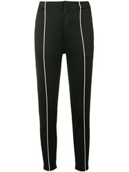 Y 3 Contrast Pipe Trousers Black