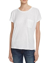 Velvet By Graham And Spencer Luxe Slub Pocket Tee 100 Bloomingdale's Exclusive White