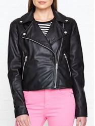 Paul Smith Ps By Leather Biker Jacket Black