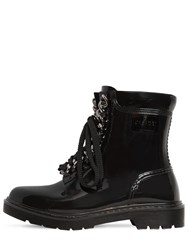 Casadei 30Mm Chained Pvc Ankle Boots Black