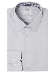 Smyth And Gibson Circle Weave 100S Cotton Slim Fit Shirt Grey