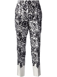 Dolce And Gabbana Lace Print Trouser Black