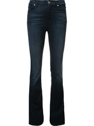 J Brand Mid Rise Flared Jeans Blue