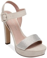 Madden Girl Rollo Embellished Platform Dress Sandals Blush