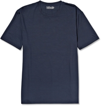Derek Rose Basel Stretch Micro Modal T Shirt Blue