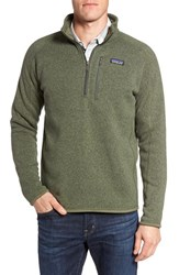 Patagonia Men's 'Better Sweater' Quarter Zip Pullover Industrial Green
