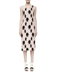 Balenciaga Floral Applique Sleeveless Matelasse Dress Ballerina Black Size 42 Vallerina Noir