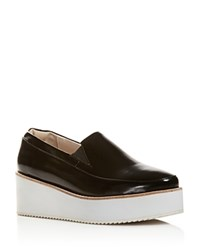 Sol Sana Tabbie Platform Wedge Loafers Black