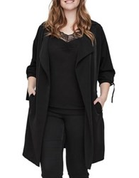 Junarose Plus Kaiza Long Sleeve Trench Coat Black