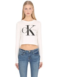 Calvin Klein Jeans True Icon Cropped Long Sleeve T Shirt