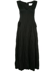 Song For The Mute Flared Raw Seam Dress Black