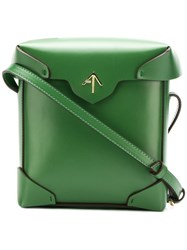 Manu Atelier Mini Pristine Crossbody Bag Green