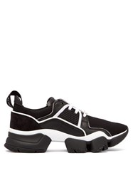 Givenchy Jaw Low Top Leather And Neoprene Trainers Black White