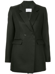 Strateas Carlucci Double Breasted Fitted Blazer Black