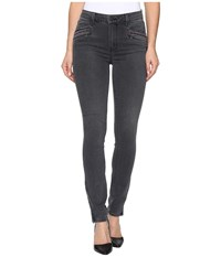 Paige Riona Zip Ankle In Grey Melita Embroidery Grey Melita Embroidery Women's Jeans Black