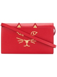 Charlotte Olympia Long Feline Purse Red