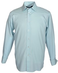Double Two Plain Long Sleeve Shirt Duck Egg