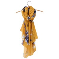 Joules Wensley Floral Scarf Gold Multi