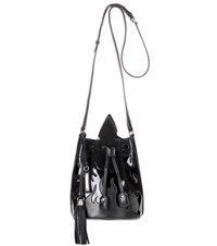 Saint Laurent Leather And Suede Bucket Bag Black