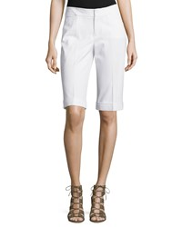 Neiman Marcus Bi Stretch Walking Shorts White