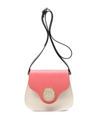 Braccialini Federica Leather Crossbody Bag Beige