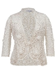 Chesca Lace Cornelli Embroidered Trim Jacket Ivory